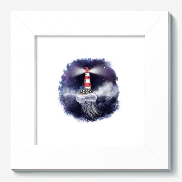 Картина «Маяк. Море. Космическая медуза.»