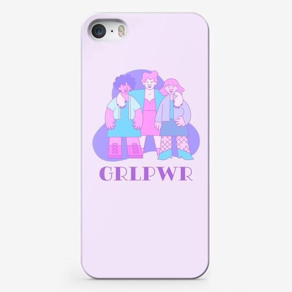 Чехол iPhone «GRLPWR - Фиолетовый Рейв»