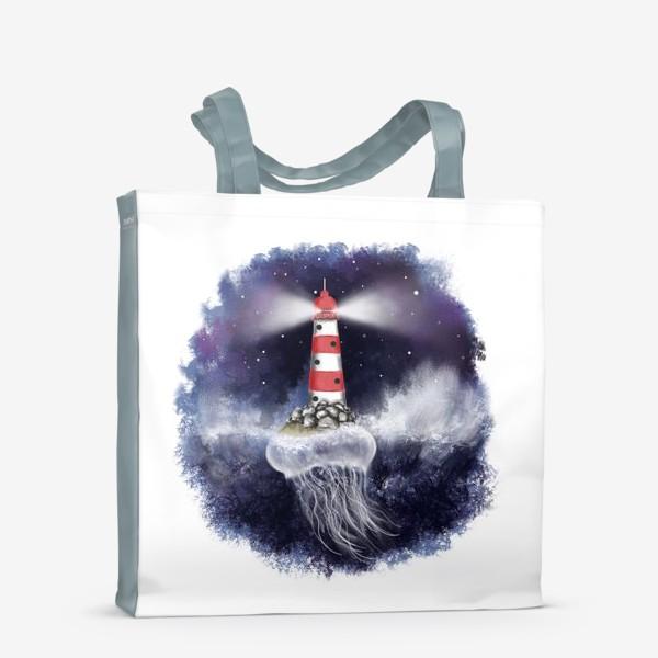 Сумка-шоппер «Маяк. Море. Космическая медуза.»