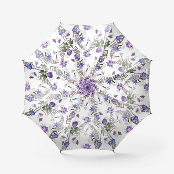 Зонт «Голубые розы»