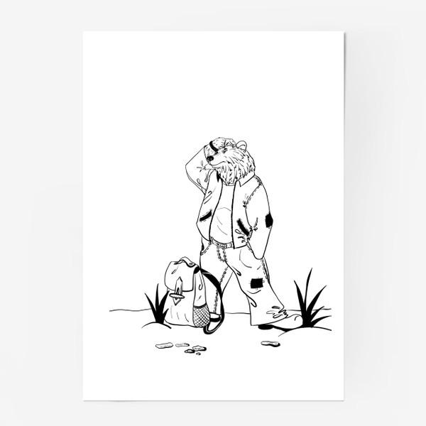 Постер «Мишка путешественник »