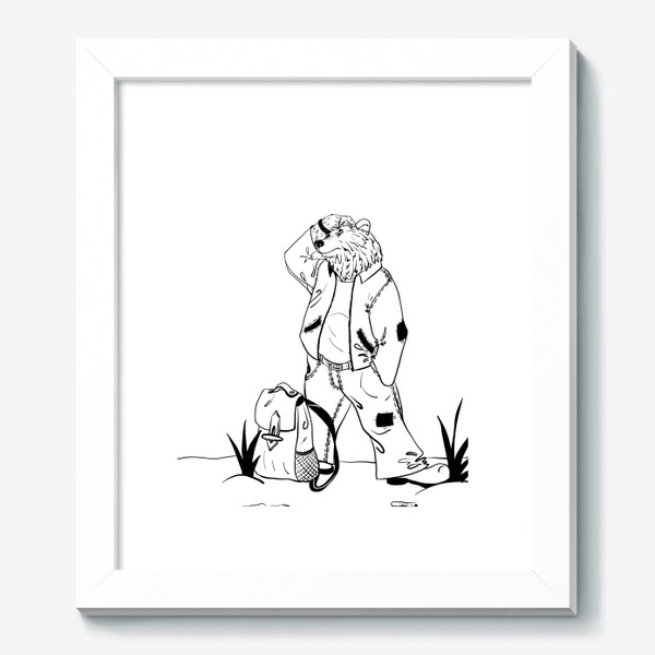 Картина «Мишка путешественник »