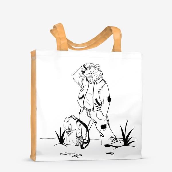 Сумка-шоппер «Мишка путешественник »