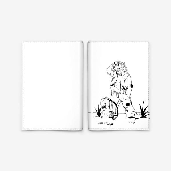 Обложка для паспорта «Мишка путешественник »