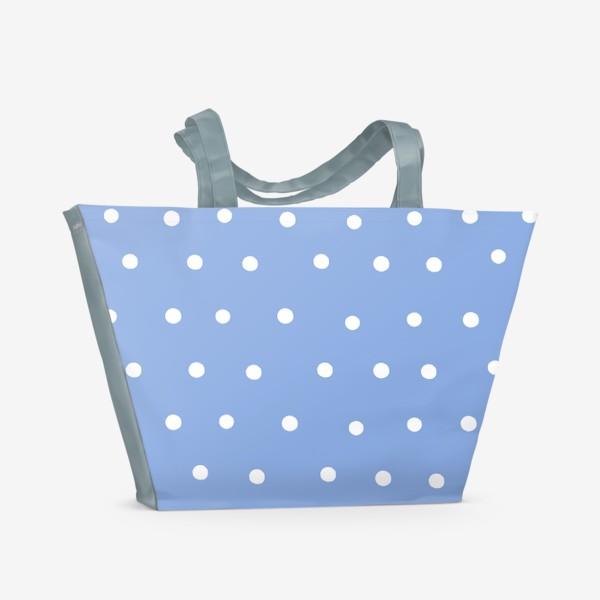 Пляжная сумка «Горох, горошек, polka dot»
