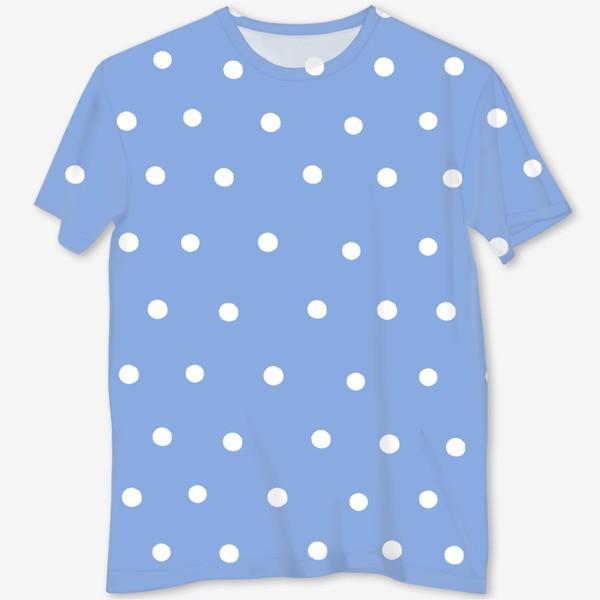 Футболка с полной запечаткой «Горох, горошек, polka dot»