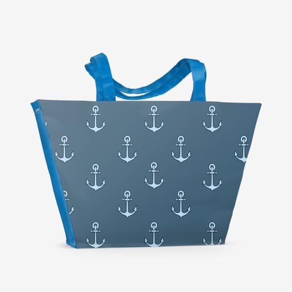Пляжная сумка «Якорь»