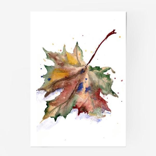 Постер «Лист кленовый»