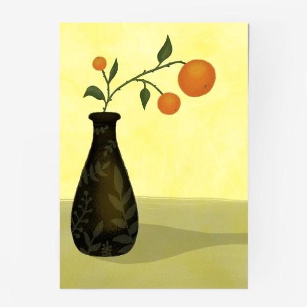 Постер «Апельсины на ветке»