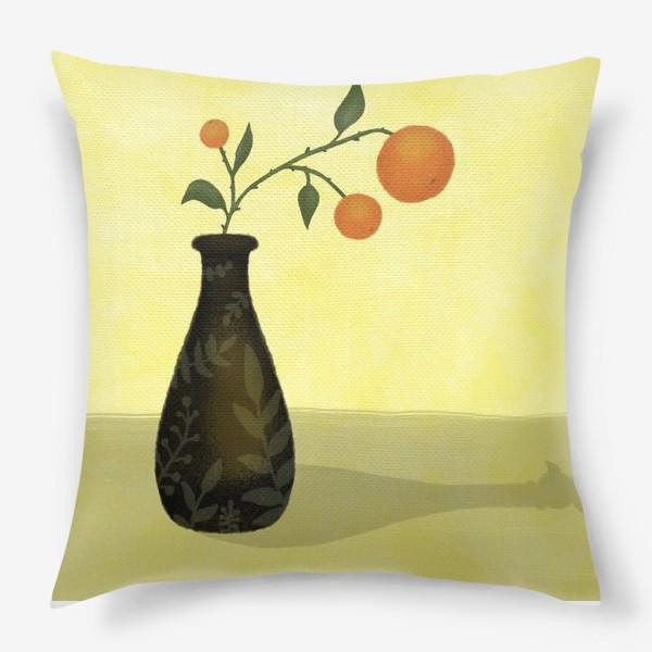 Подушка «Апельсины на ветке»