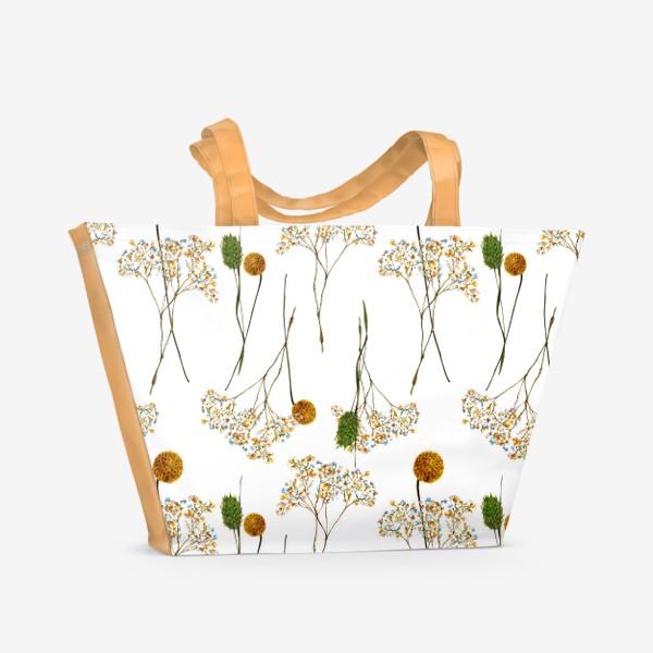 Пляжная сумка « сухоцветы»