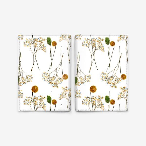 Обложка для паспорта « сухоцветы»