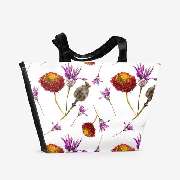 Пляжная сумка «Яркие сухоцветы»