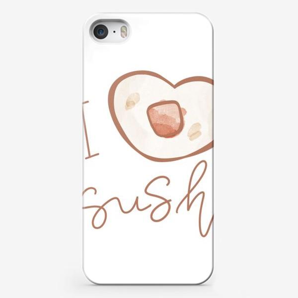 Чехол iPhone «Надпись я люблю суши»