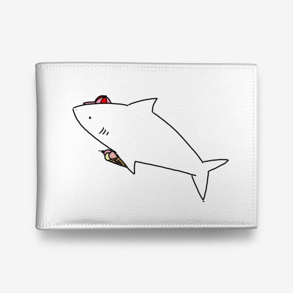 Кошелек «Акула в кепочке с рожком мороженого»