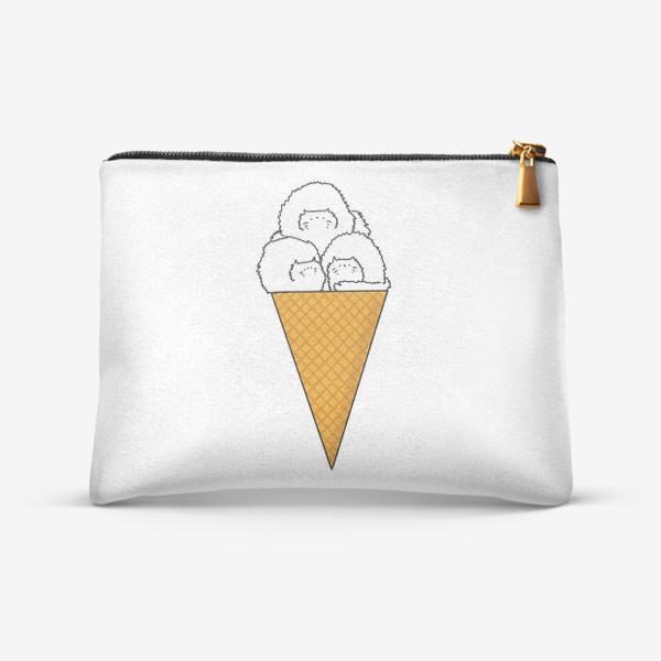 Косметичка «Котики. Рожок мороженого. Летнее настроение »