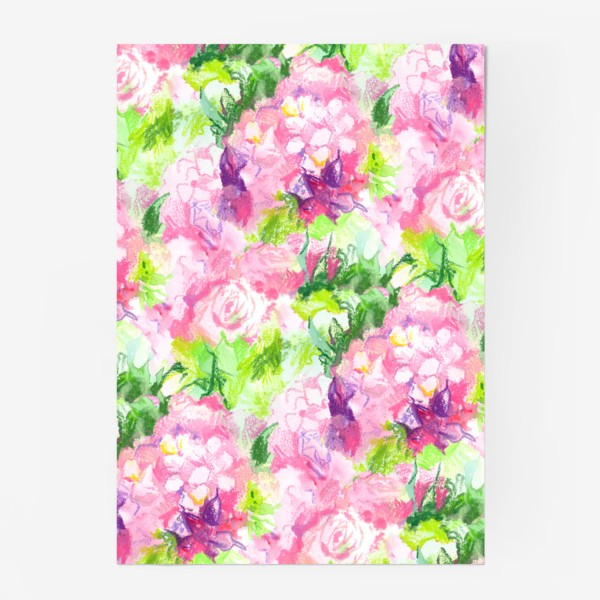 Постер «Паттерн с розовыми цветами»