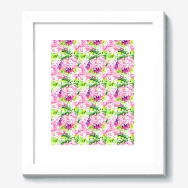 Картина «Паттерн с розовыми цветами»