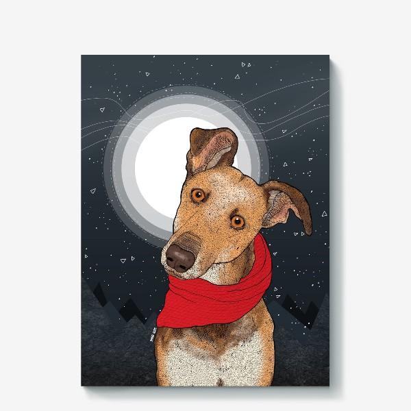 Холст «Собака по имени Нудлс»