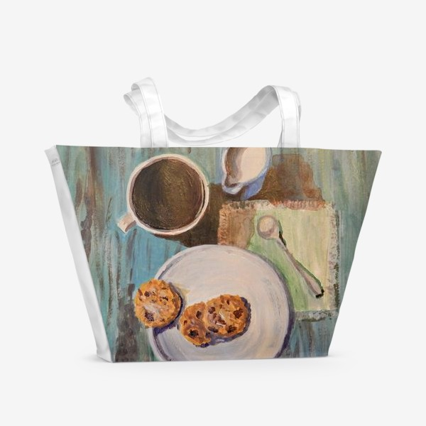 Пляжная сумка «Утренний кофе»