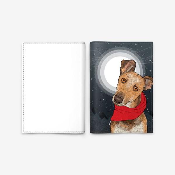 Обложка для паспорта «Собака по имени Нудлс»