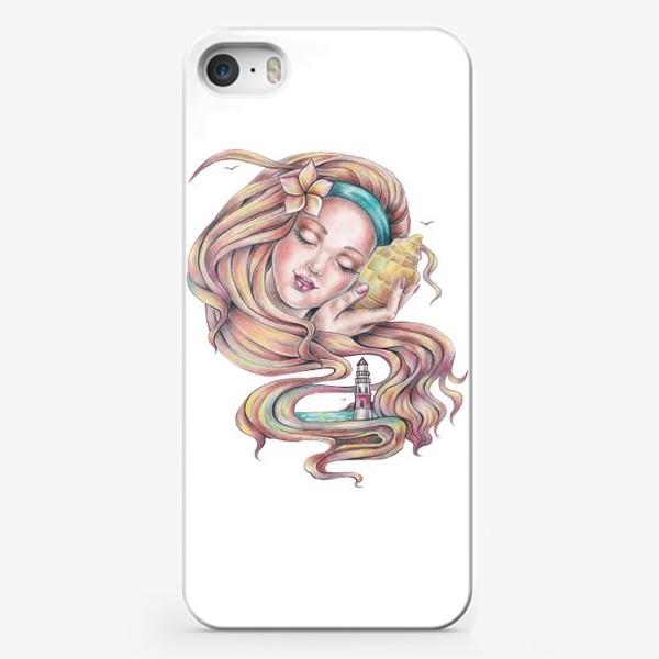 Чехол iPhone «Девушка с ракушкой»