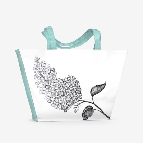 Пляжная сумка «Сирень.»