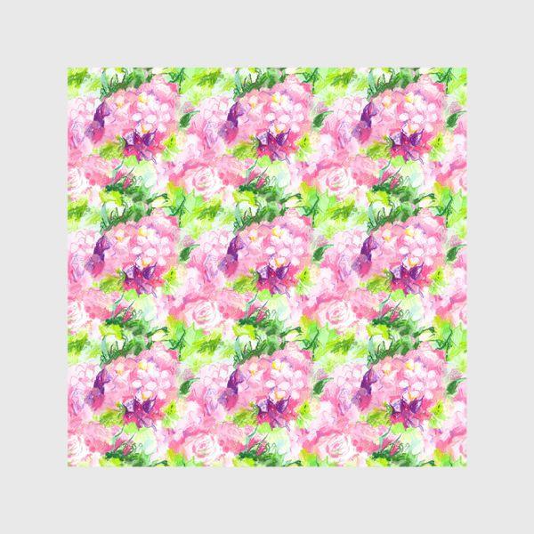Шторы «Паттерн с розовыми цветами»