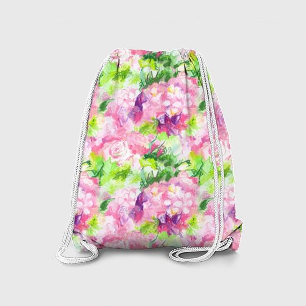 Рюкзак «Паттерн с розовыми цветами»