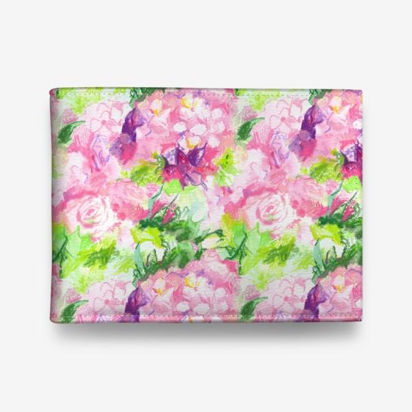 Кошелек «Паттерн с розовыми цветами»