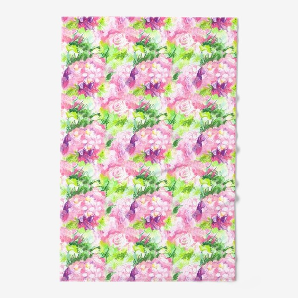 Полотенце «Паттерн с розовыми цветами»