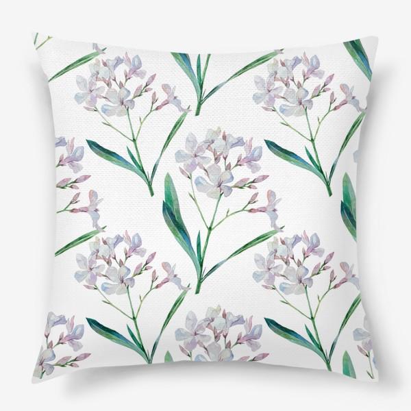Подушка «Белый олеандр»