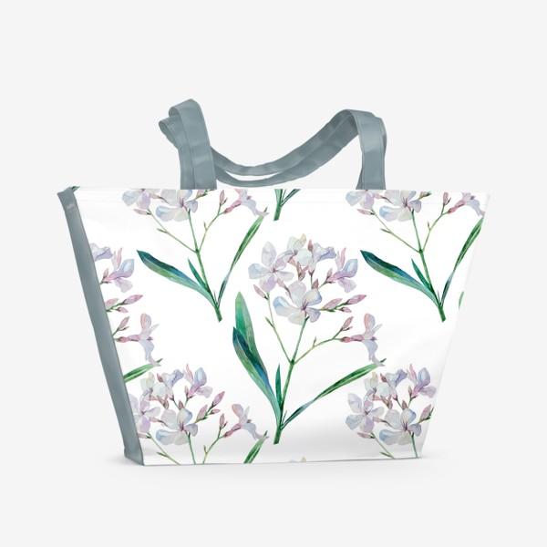 Пляжная сумка «Белый олеандр»
