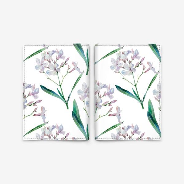 Обложка для паспорта «Белый олеандр»