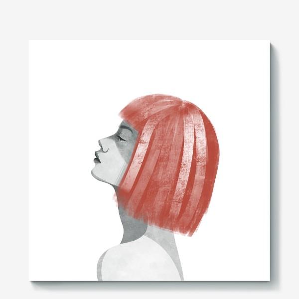 Холст «Девушка с рыжими волосами. Девушка»