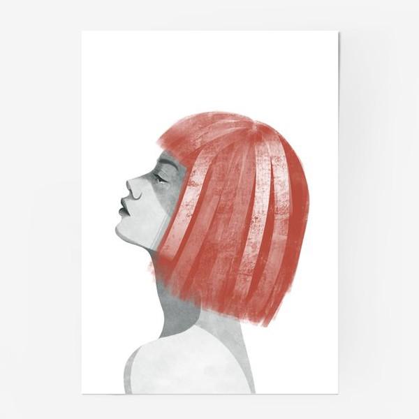 Постер «Девушка с рыжими волосами. Девушка»