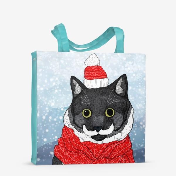Сумка-шоппер «Зимний Кот»