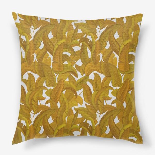 Подушка «Желтые листья»