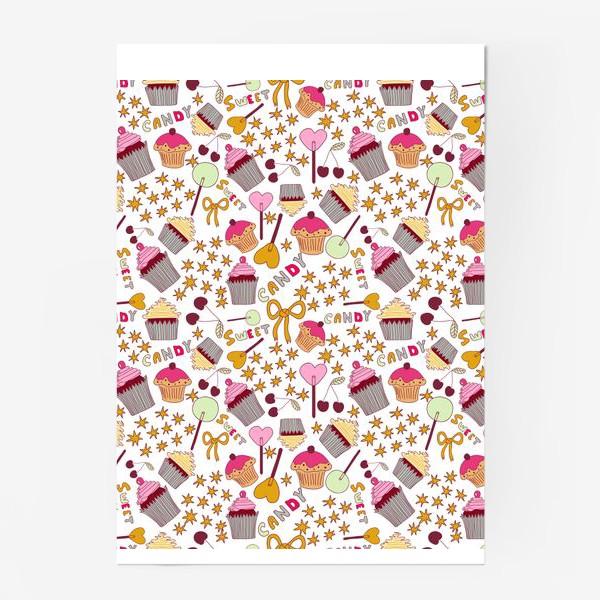 Постер «Капкейки, леденцы, сладости»