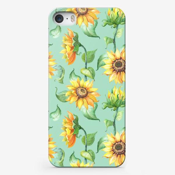 Чехол iPhone «Подсолнухи цветут»