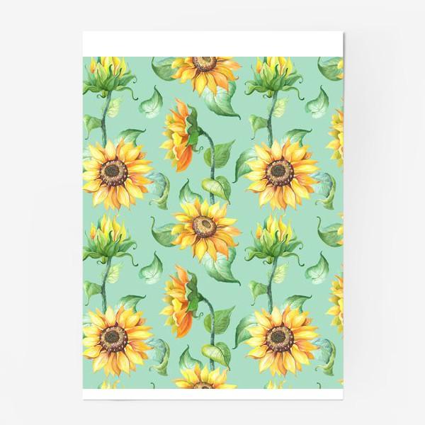 Постер «Подсолнухи цветут»