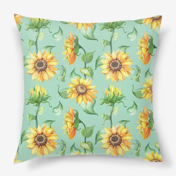 Подушка «Подсолнухи цветут»