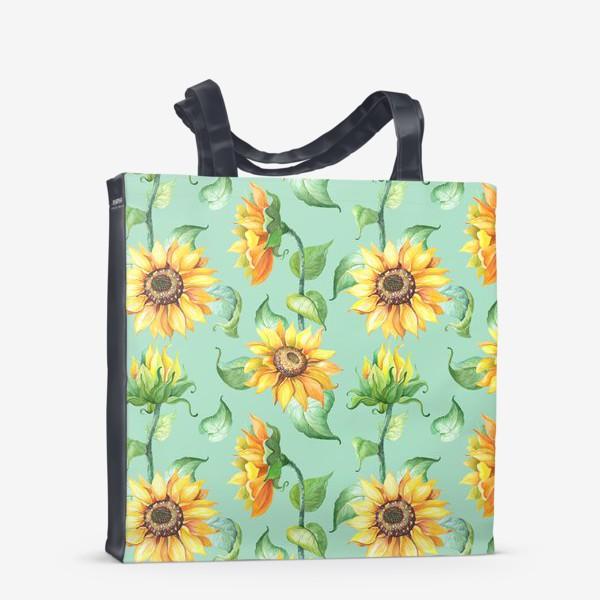 Сумка-шоппер «Подсолнухи цветут»