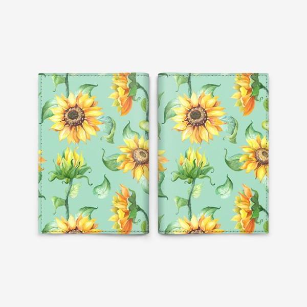 Обложка для паспорта «Подсолнухи цветут»