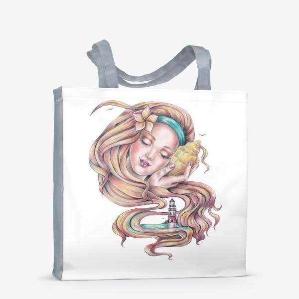 Сумка-шоппер «Девушка с ракушкой»