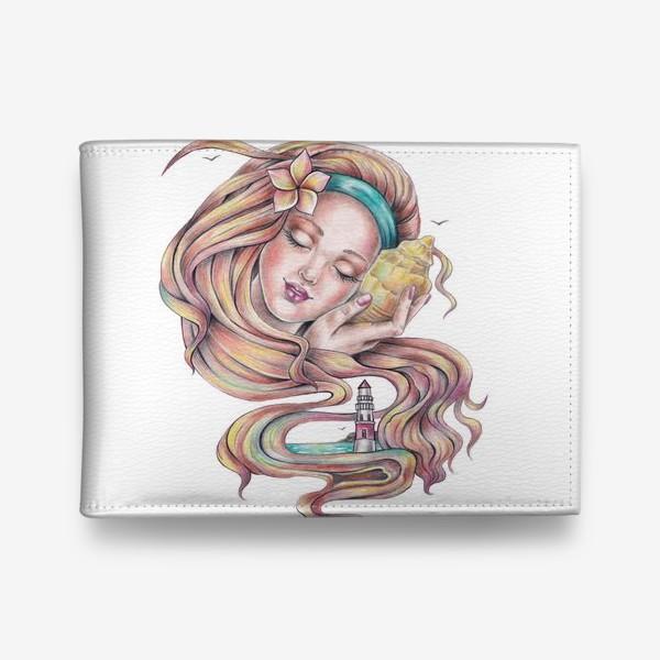 Кошелек «Девушка с ракушкой»