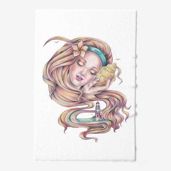Полотенце «Девушка с ракушкой»