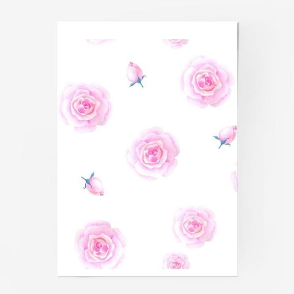 Постер «Нежные розочки»