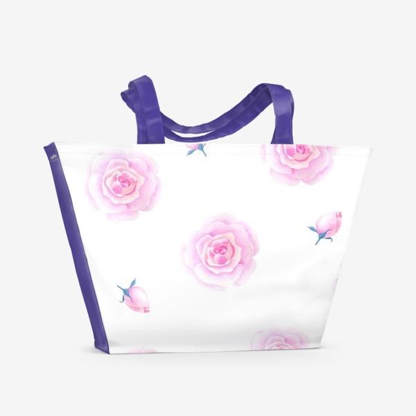 Пляжная сумка «Нежные розочки»
