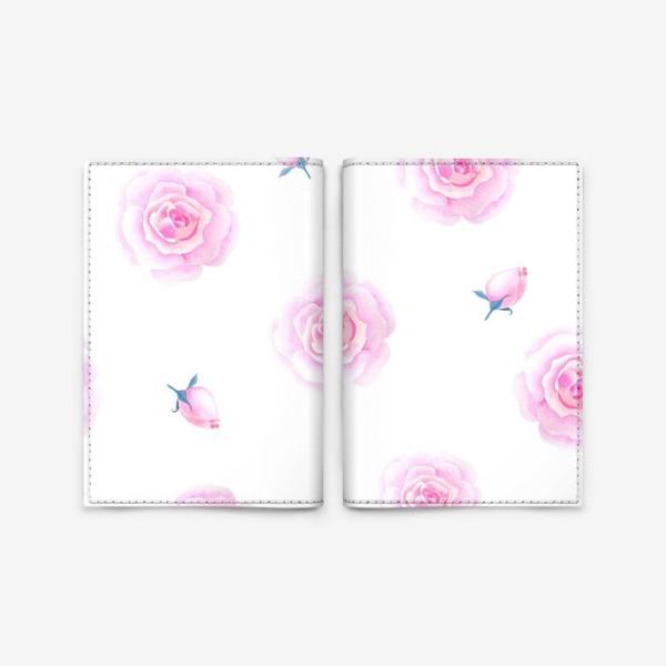 Обложка для паспорта «Нежные розочки»